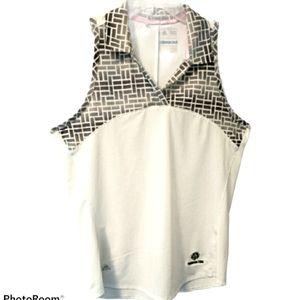 Adidas tank top w/collar sleeveless